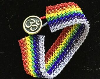 Rainbow Beaded Bracelet Fun & Unique