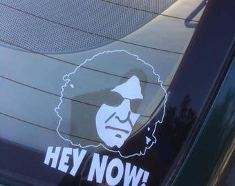 HEY NOW decal Howard Stern window decal sticker mac book
