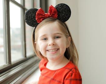 Mickey Ears || Minnie Mouse Ears || Mouse Ears || Disneyland Headband || Mickey Birthday ||  Minnie Birthday
