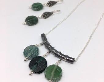 Roman Glass Necklace - Roman Glass Jewelry - Historical Jewelry - Artisan Jewelry - Ancient Roman Glass - Artifact Jewelry - Roman Bar
