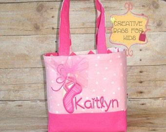 Ballet Bag/ Ballet Tote Bag/ Ballerina Lunch Bag/ Personalized Ballet Bag/ Girls purse/ Girls dance bag