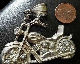 Vintage Motorcycle Pendant