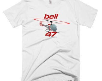 Bell 47 Custom Helicopter T-shirt - Personalized with Your N#
