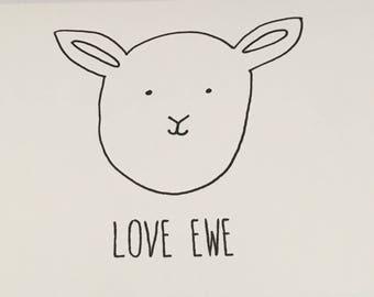 Love Ewe, A6 card