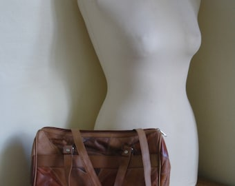 Vintage Patchwork Leather Handbag