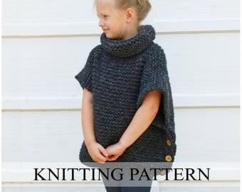 Knit cape pattern Etsy