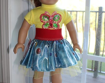 Rainbow Skirt with applique top