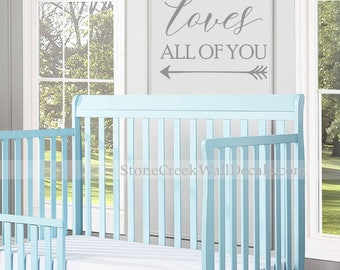 All of Me Loves All of You Wall Decal Vinyl Decal Vinyl Wall Decal Nursery Decal Bedroom Decal Kids Boys Girls Wall Decal Metallic Gold