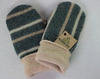 Turquoise, Aqua, Recycled Wool Sweater Mittens, Women's or Men's MEDIUM
