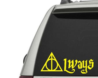 Always decal - Wizard - Vinyl Decal - Window Decal / Window Sticker - FREE SHIPPING with Code