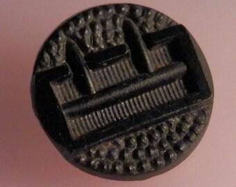 Buckle Vintage Glass Button