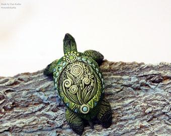 Sea Turtle Sculpture Figurine Totem Animal TotembyKarhu