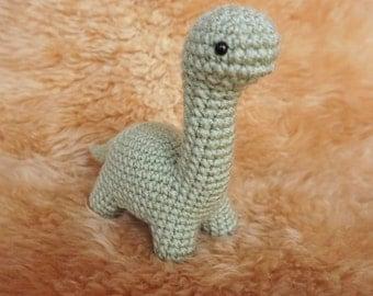 Crochet Amigurumi Bronto the Dinosaur Plush, Dino