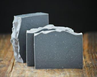 Dead Sea Mud Soap | Lemongrass Lavender Soap | Essential Oil Soap, All Natural Scented Cold Process Soap, Vegan Homemade Soap, Handmade Soap