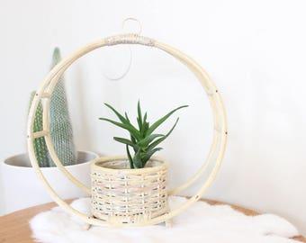 Vintage Wall Basket Airplant Holder Woven Basket Planter Boho Home Decor