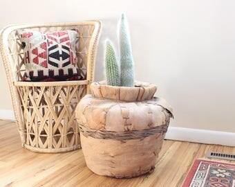 Basket Planter Pot Extra Large Palm Leaf Boho Planter Indoor Planter