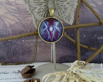 Union Twin Flame Fairy Pendant