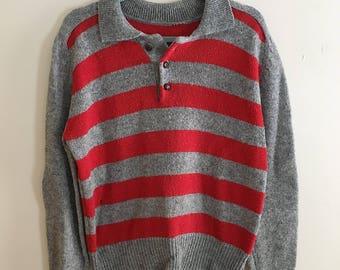 Vintage 80s Striped Wool Sweater