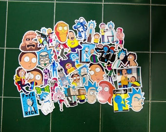 Rick and Morty Sticker-Bombing Sticker Pack
