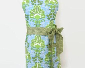 Apron - SALE - Women's full apron - kitchen apron women - damask apron - Apron for women - full apron adult - womens apron - gift for her