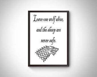 Game of thrones printable, game of thrones digital print, prints, game of thrones qutoes, game of thrones home decor, wall art,instant print