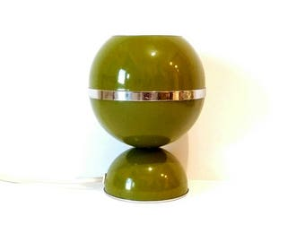 Bubble lamp, 1960s table lamp, Eyeball lamp, Space age lamp, green lamp