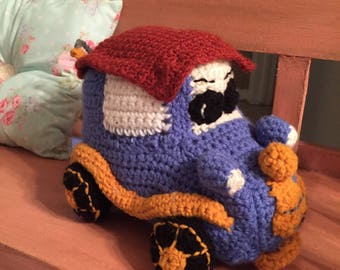 Tow Truck Crocheted Toy
