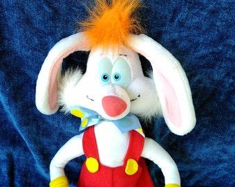 "Roger Rabbit Talking Pull String Plush from Disney's ""Who Framed Roger Rabbit""/Playskool Roger Rabbit"