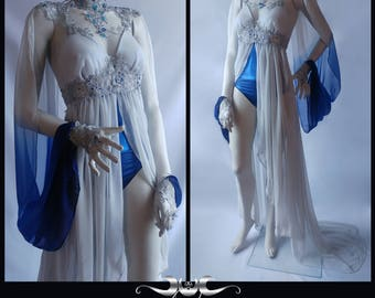 RESERVED!!! Fantasy mermaid costume sea goddess dress couture stage wear burlesque showgirl underwater fairytale cosplay witch fairygoth