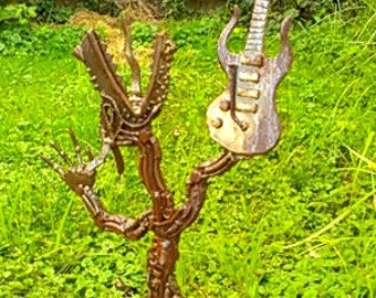 Monster of Rock  made of steel & found metal objects