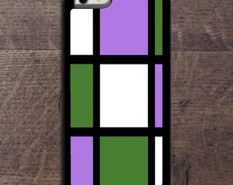 Genderqueer flag colors Mondrain inspired phone case