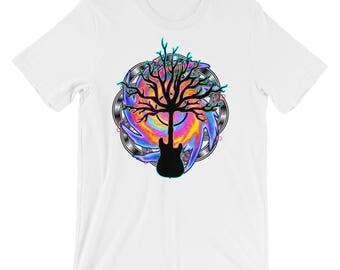 Psychedelic Guitar Tree, Unisex - Men's Shirt, Guitar Shirt, Guitarist Shirt, Music Shirt, Guitar Player Gift, Guitarist Gift, Musician Gift