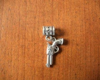 fantasy pendant silver gun 11 x 21 mm