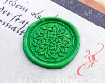 Buy 1 Get 1 Free - 1pcs Lush Leaves Gold Plated Wax Seal Stamp (WS461)