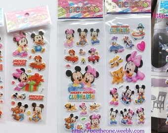 Disney Clubhouse stickers sheet with Baby Mickey, Minnie, Donald... for scrapbooking, stationery, decoration... - 5 different designs