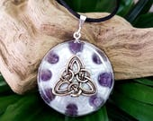Orgone Pendant - Amethyst - Orgone Necklace - Protection Talisman - Crown Chakra Healing Jewellery - Orgone Necklace - Large