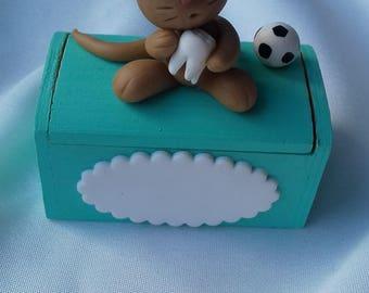 Teeth box customizable football theme