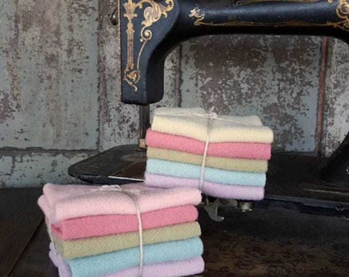 Featured listing image: Wool Bundle: Pastel 5pc Mini Sampler - Bunny Hill Wools