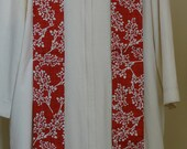 Clergy Stole:  Contemporary Red and White