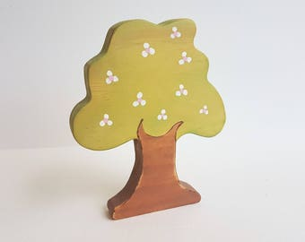 Apple Tree - Wooden block toy, imaginative play, waldorf toy, nature table