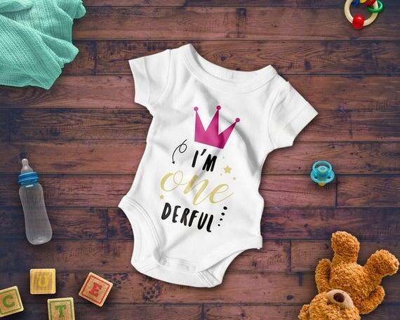 I'm ONEderful cricut design baby boy clothes cut file