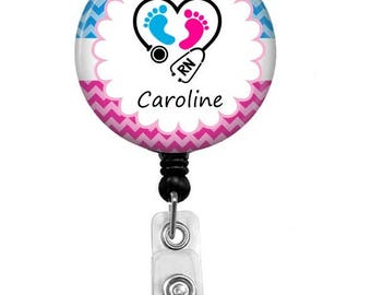Maternity Nurse Badge Reel - Id Badge Holder - Labor And Delivery - ID Badge - Retractable Badge - Midwife - Kids Nurse - Maternity Nurse