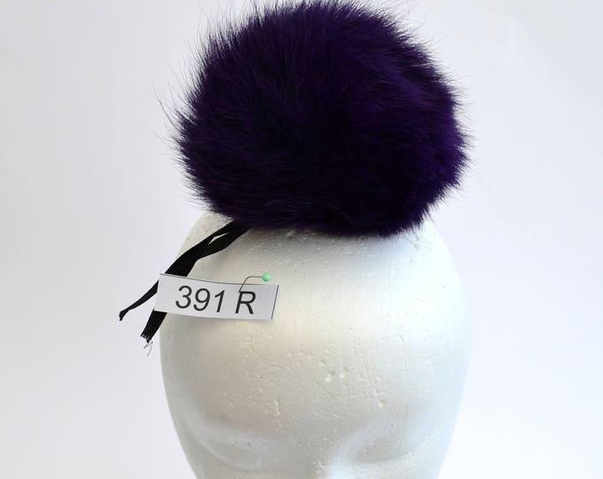 """5,5"""" SUPER THICK, LARGE Pom Pom! Fox Fur Pom Pom, Purple Pom-Pom, Real Fur Pom Pom, Winter Hat Pom Pom, Women Pom Pom Hat, Knit hat, Child"""