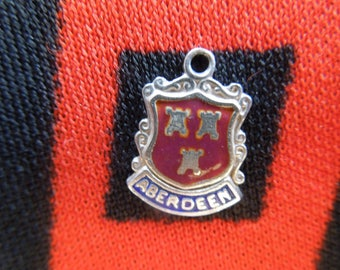 Enamel Silver Aberdeen Charm Scotland Travel Shield Crest Silver Charm for Bracelet from Charmhuntress 04684