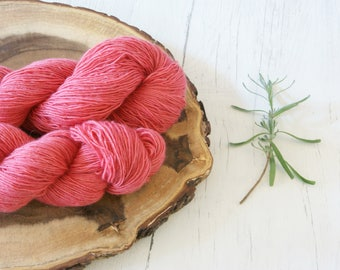 Merino Sock Yarn 100g - 4ply Pink Silver Sparkle Sock Wool - Hand Dyed with Natural Dyes