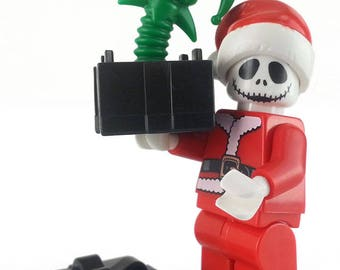 Santa Jack Skellington with Death in the Box Christmas present