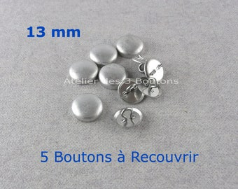 """5 Cover Buttons 1/2"""" (Size 20)"""