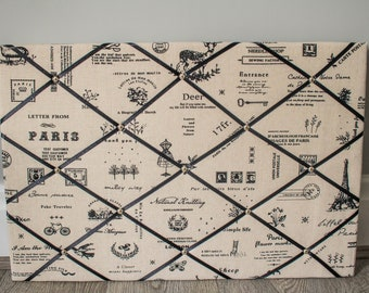 40x60cm Memo Board|Paris|Handmade|The Secret Beehive|New Home|Notice Board-Kitchen-Office-Study|Made in England|Mothers Day|Birthday