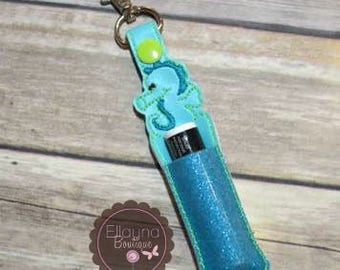 Lip Balm, Chapstick, Flash Drive, USB Drive Holder - Seahorse