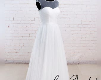 Wedding dress A line Wedding Dresses Tulle Wedding Dresses Bridal Dress Customized 70 Kinds of Colors
